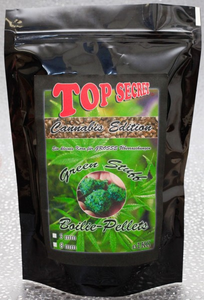 Top Secret Canabis Edition Green Stuff Boilies Pellets 8mm 1 Kg