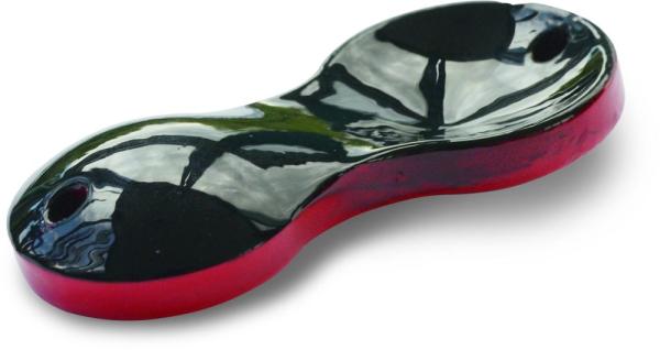 Zebco Flatty Teaser bleifrei rot / schwarz metallic 60 g