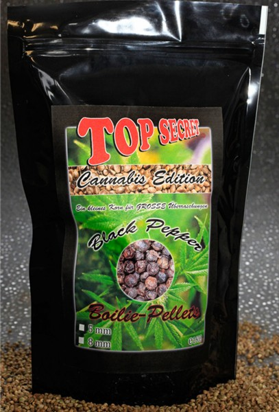Top Secret Canabis Edition Cannabis Boilie Pellets Black Pepper 8 mm 1 kg