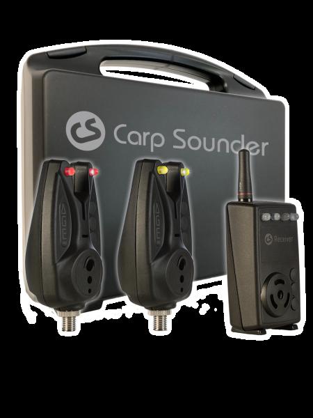 Carp Sounder AGE one Set - 2 Bissanzeiger + CS Receiver + Transportkoffer