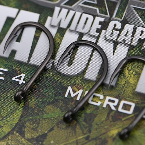 Gardner Covert Dark Wide Gape Talon Tip Hooks Barbed Size 4