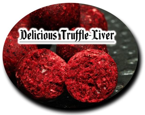 Top Secret Satisfaction Boilies Delicious Truffle - Liver & pure Shrimps (braun) 25mm