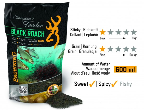 Vorteilspack Browning Champion's Feeder Mix Black Roach