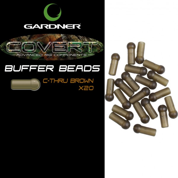 GARDNER COVERT BUFFER BEADS C-THRU BROWN