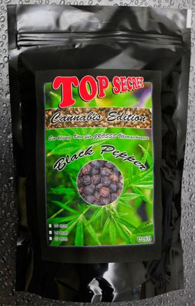 Top Secret Canabis Edition Cannabis-Boilies Black Pepper 16 mm 1 kg