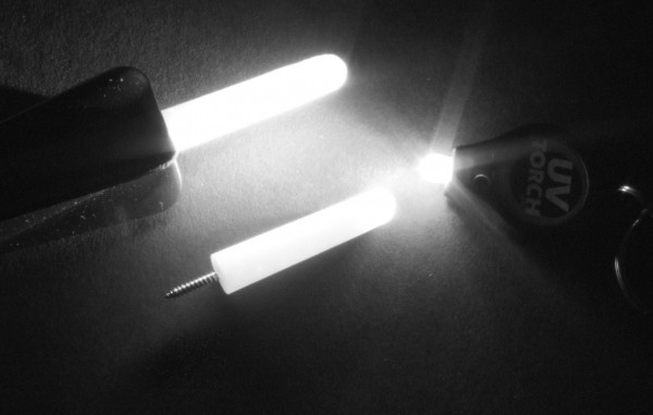 GARDNER UV TORCH + GLO-WORM SCREW-ON (pair)