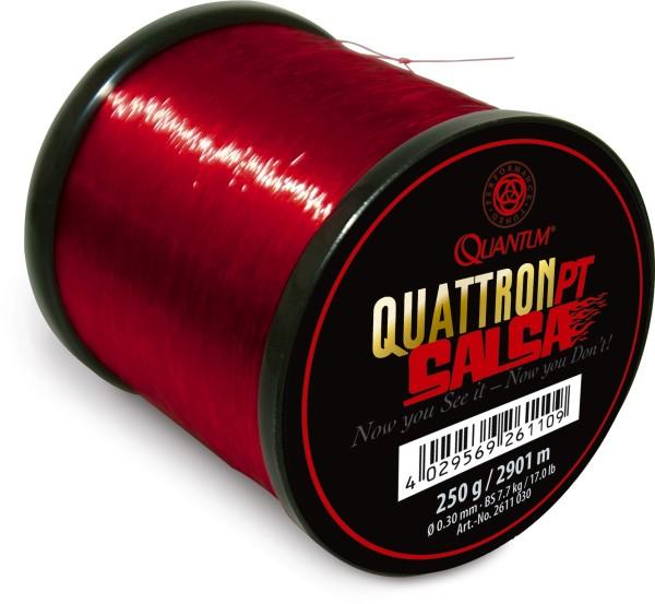 Quantum Specialist Quattron Salsa transparent rot 0,30 mm 17,00 lb 7,70 kg