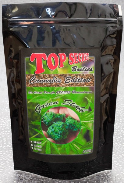 Top Secret Canabis Edition Green Stuff Boilies 16mm 1 Kg