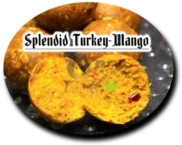 Top Secret Satisfaction Boilies Splendid Turkey - Mango & pure Shrimps (beige) 20mm