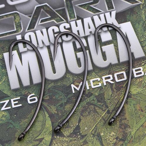 Gardner Dark Longshank Mogga Hooks Barbless Size 8
