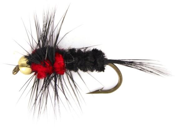 Quantum Specialist Grubby Fliege schwarz Hakengröße 4
